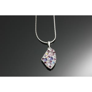 Naszyjnik Swarovski Elements Rectangle Violet