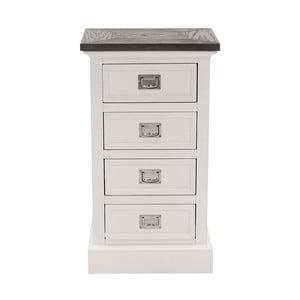 Biała komoda Canett Skagen, 4 szuflady