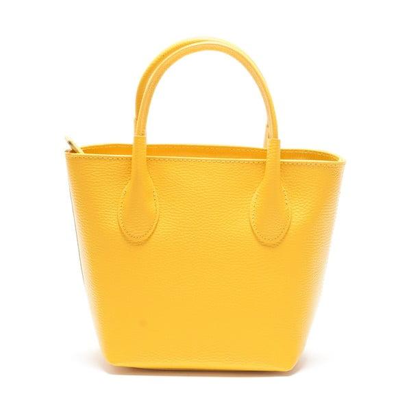 Torebka skórzana Mangotti 1135,żółta