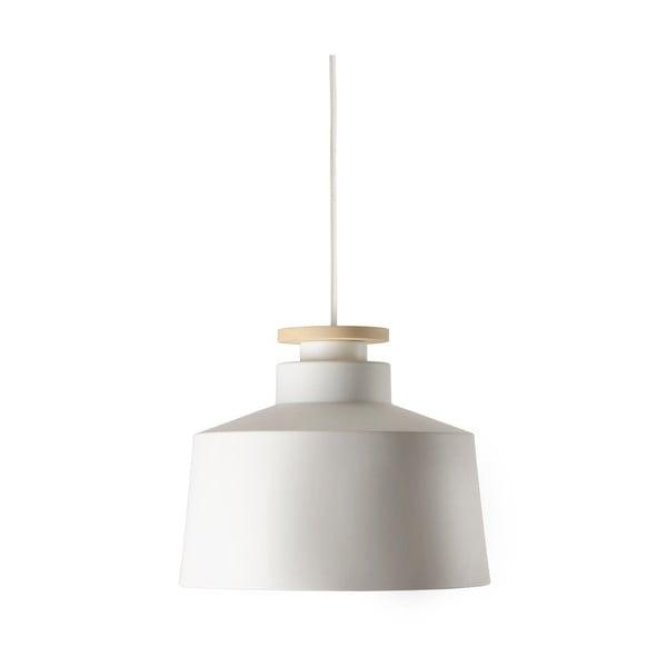 Żyrandol Street M, biały z białym kablem