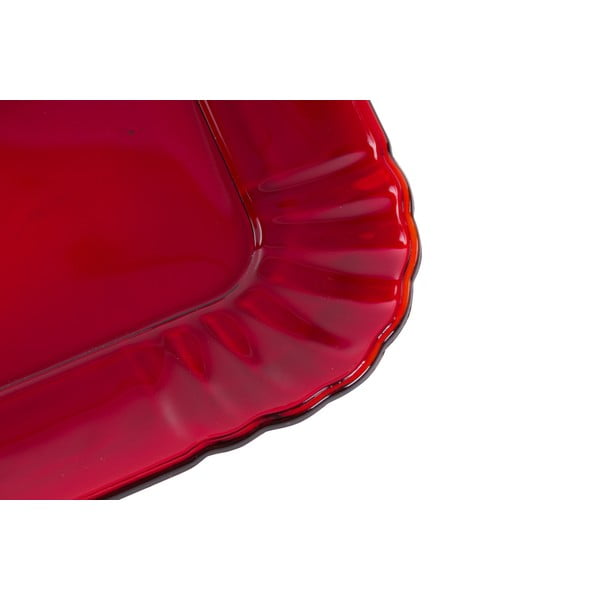 Szklany talerzyk Kaleidos, czerwony