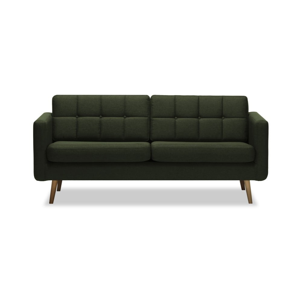 Ciemnozielona sofa 3-osobowa Vivonita Magnus