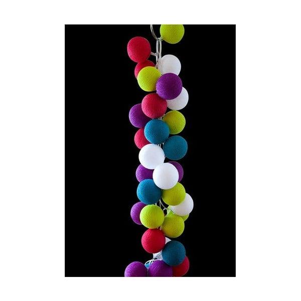 Girlanda świetlna Rainbow Drops, 50 światełek