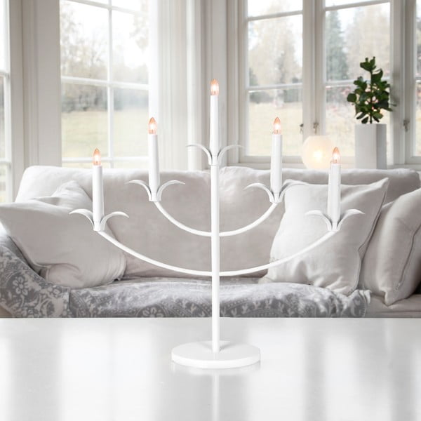 Świecznik LED Tilpi, biały
