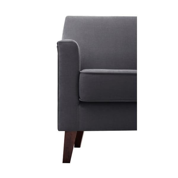 Grafitowy fotel Jalouse Maison Kylie