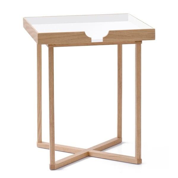 Stolik  Damieh White/Oak, 37x45 cm