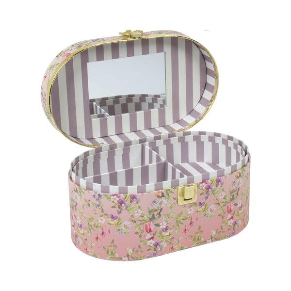 Owalna szkatułka na biżuterię z lusterkiem Tri-Coastal Design Charming Garden