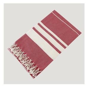 Ręcznik hammam Bath Style Red, 100x180 cm
