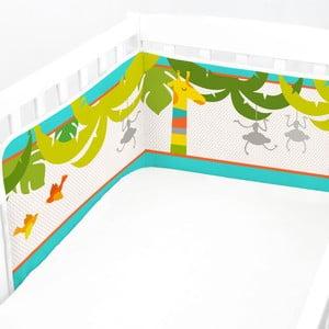 Regulowany ochraniacz do łóżeczka Baleno Zoo, 210x40 cm