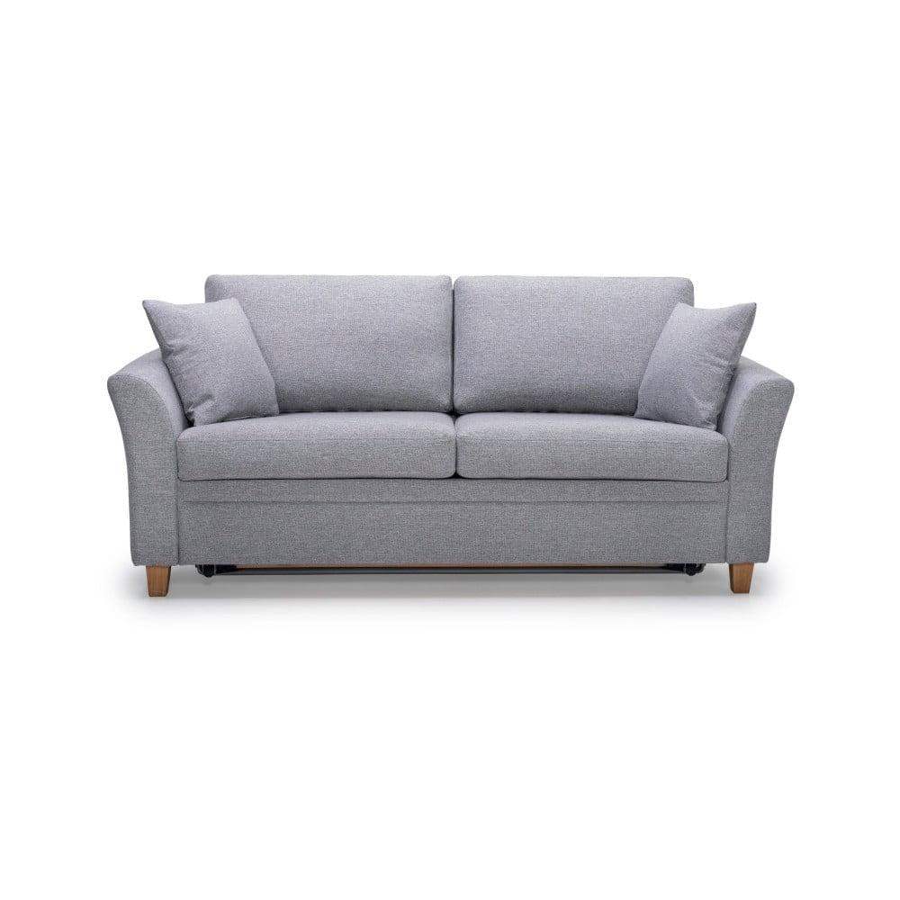 Jasnoszara rozkładana sofa Scandic Sonia