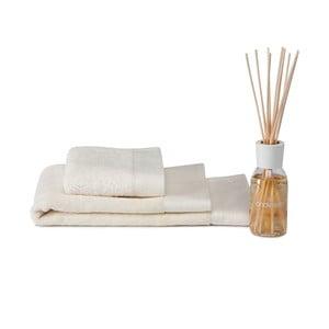 Zestaw ręcznik, dywanik i dyfuzor Pure Cream