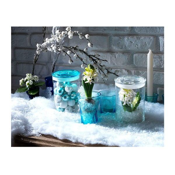 Pojemnik szklany z niebieskim wieczkiem Kaleidos Can, 10,5x16cm