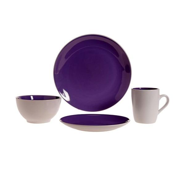 Komplet naczyń Lucca Purple, 16 szt.