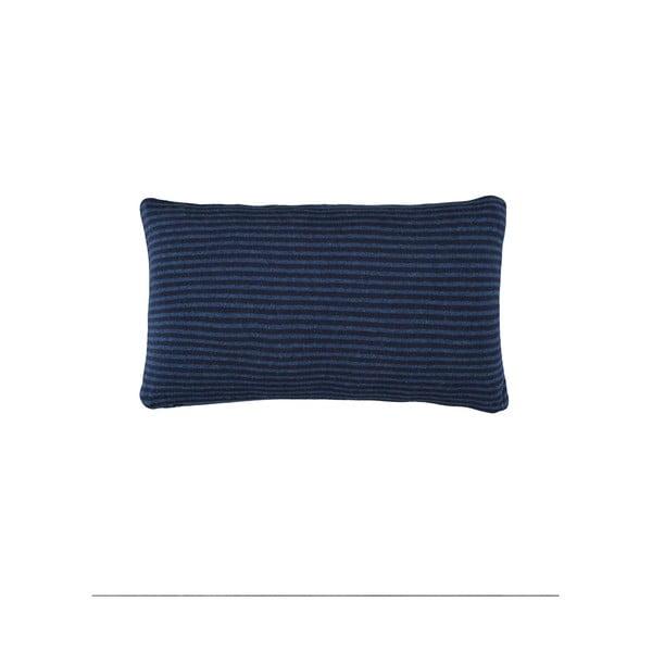 Ciemnoniebieska poduszka Marc O'Polo Arvid, 30x50 cm