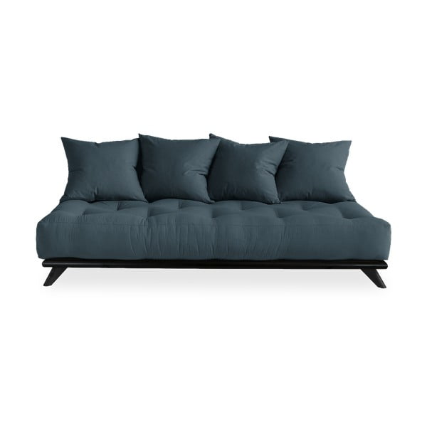 Sofa z niebieskim obiciem Karup Design Senza Black/Petrol Blue