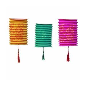Papierowe lampiony Tropicana, 6 sztuk