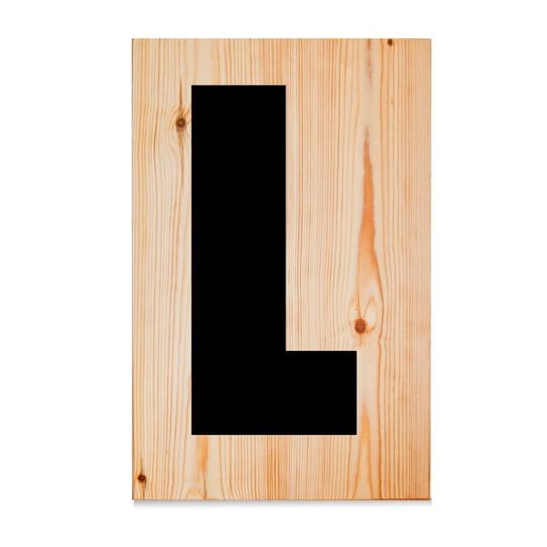 Drewniana tabliczka Letters L