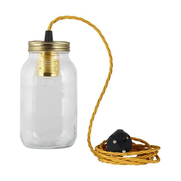 Lampa JamJar Lights, złoty skręcony kabel