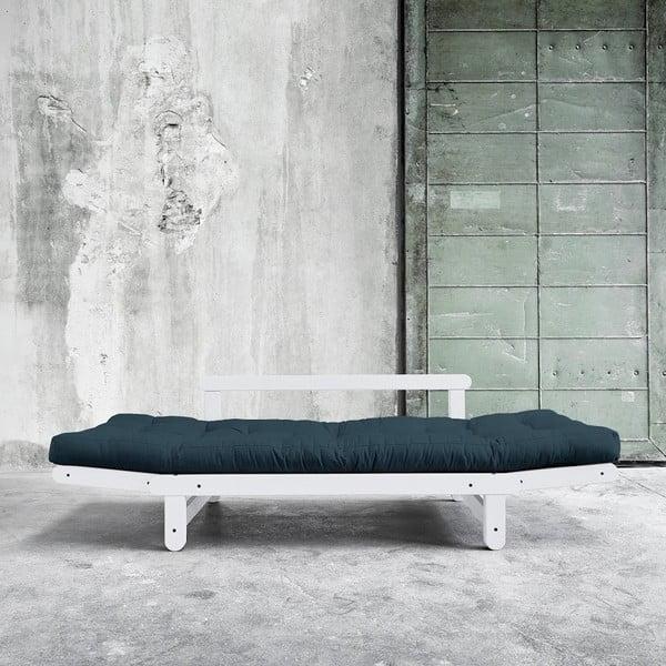 Sofa rozkładana Beat White/Deep Blue