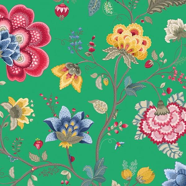 Tapeta Pip Studio Floral Fantasy, 0,52x10 m, zielona