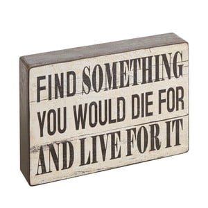 Napis dekoracyjny Find Something