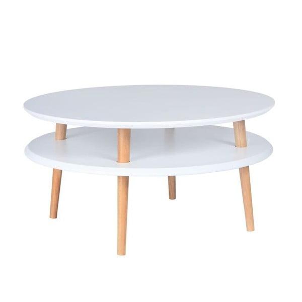Stolik kawowy UFO 35x70 cm, biały
