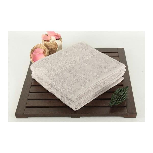 Zestaw 2 ręczników Sal Light Grey, 50x90 cm