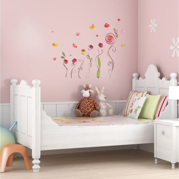 Zestaw naklejek Ambiance Roses And Butterflies Decals