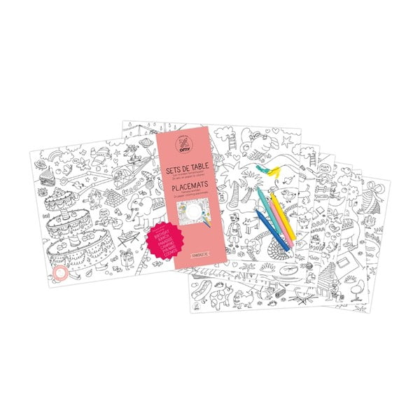 Mata stołowa – kolorowanka dla dzieci Fantastic, 24 sztuki