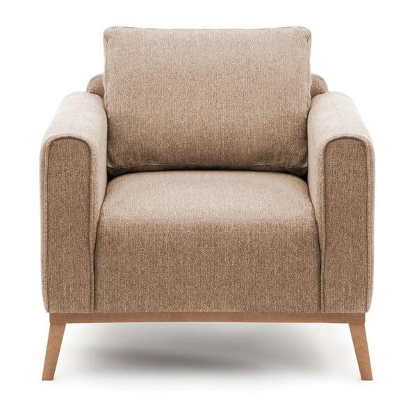 Beżowy fotel Vivonita Milton
