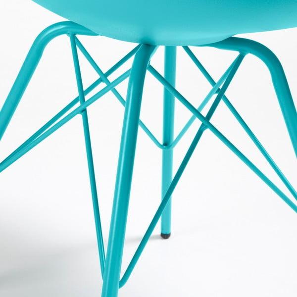 Zestaw 4 niebieskich krzeseł La Forma Lars
