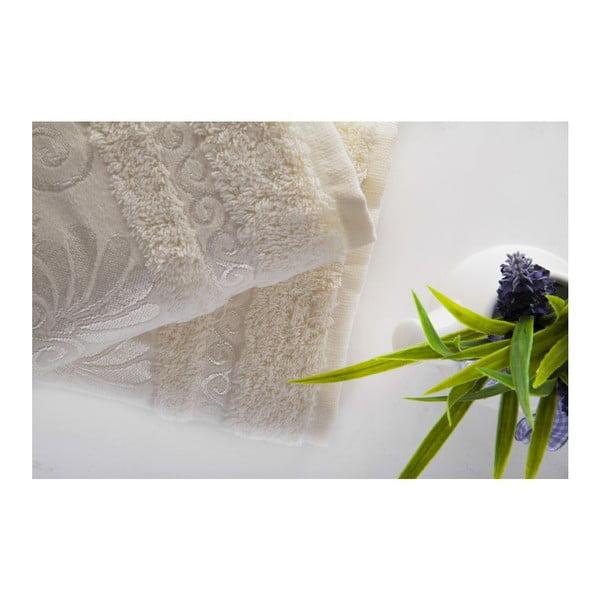 Zestaw 2 ręczników Carmen Ecru, 50x90 cm