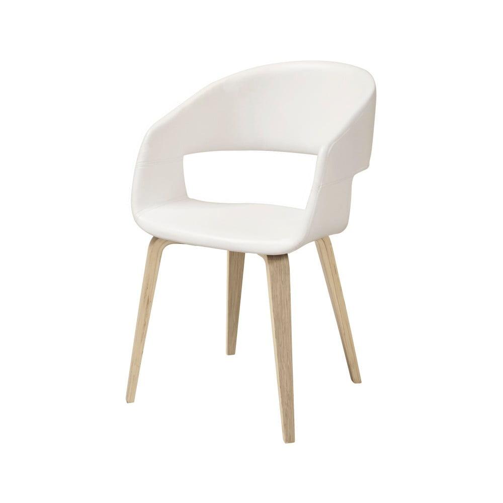 Białe krzesło do jadalni Interstil Nova Nature Poplar