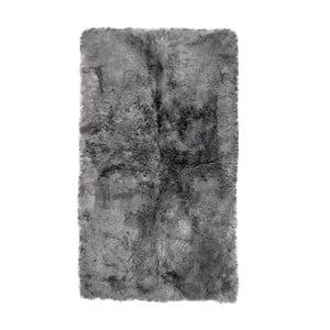 Szary prostokątny dywan futrzany z krótkim włosiem, 165x100 cm