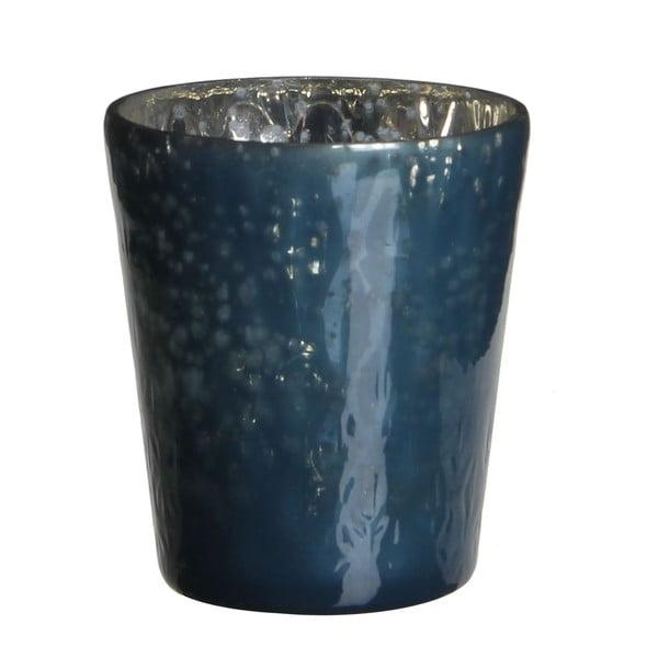 Świecznik Benito Dark Blue, 7x7 cm