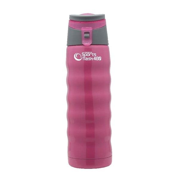 Różowa butelka sportowa Pioneer, 480 ml