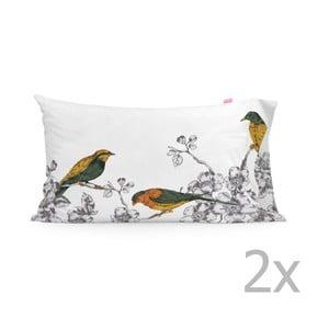Zestaw 2 poszewek na poduszki Happy Friday Spring Bird Printed, 50x80 cm