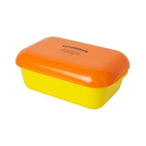 Pojemnik z wkładem chłodzącym Frozzypack Summer Edition, yellow/orange