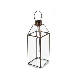 Lampion szklany z metalową ramką Moycor Bisel, wys. 30 cm