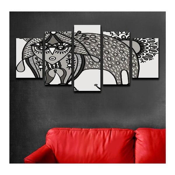 Wieloczęściowy obraz Black&White Cat, 100x50 cm