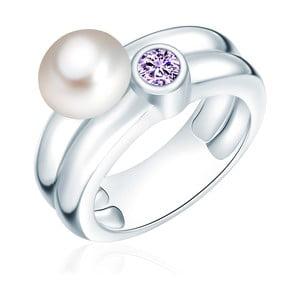 Pierścionek z perłą i cyrkonią Nova Pearls Copenhagen Lynkeus, rozm. 52