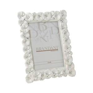 Biała ramka na zdjęcia Brandani Primrose, rozmiar zdjęcia 13x18 cm