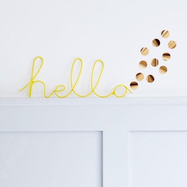 Napis   dekoracyjny Hello Wire