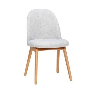 Jasnoszare krzesło z nogami z drewna dębowego Hübsch Gisla