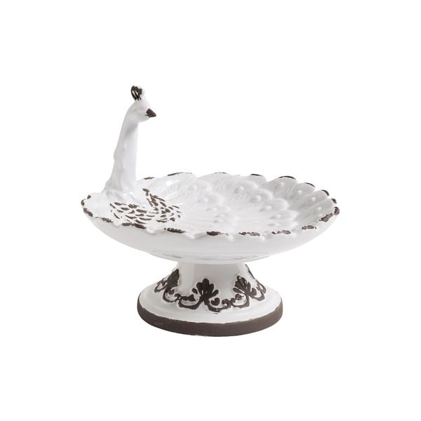Biała taca ceramiczna Nordal Bird