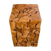 Stołek z drewna tekowego House Nordic Mosaic
