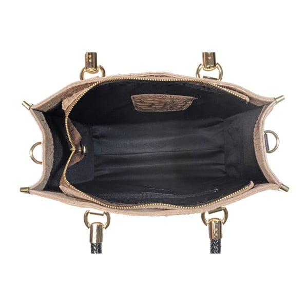 Skórzana torebka Rep Taupe