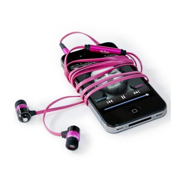 Słuchawki hi-Earphones Flat, różowe