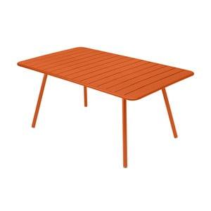 Pomarańczowy stół metalowy Fermob Luxembourg