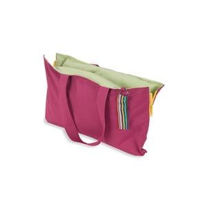 Przenośne siedzisko + torba Hhooboz 50x60 cm, różowe